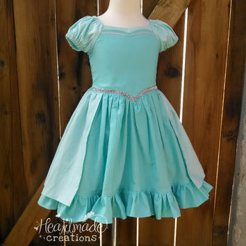 Frozen Elsa Dress - Princess Inspired Dress - Costume - Sizes 6/12 months through 10