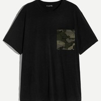 Men Camo Pocket Front T-shirt