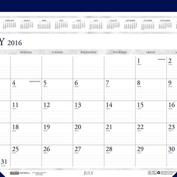 House of Doolittle 2016 - 2017 Monthly Desk Pad Calendar Academic Classic 22 ...