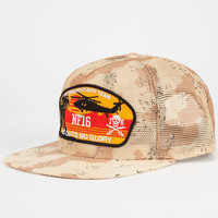 Neff No Guts Mens Trucker Hat Desert One Size For Men 24693347001