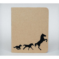 Horse Silhouette Notebook - Small notebook, Stationery, Journal, Notepad, Notebook journal, Cute notebook, Christmas gifts, Stocking fillers