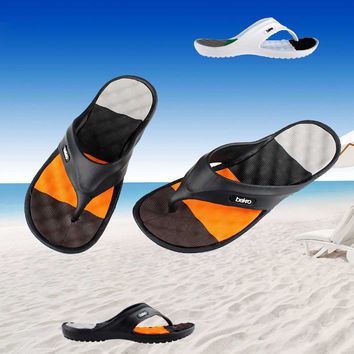 Summer EVA Shoes Fashion Flip Flops Men Sandals,Male Flat,Massage Beach Slippers Black White,Plus Size 41 - 45