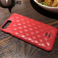 Chanel 2018 new men's and women's tide brand iPhone6/7/8 mobile phone shell F-OF-SJK #2