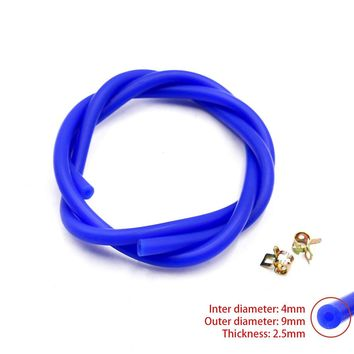 Free Shipping New Silicone Vacuum Hose Tube Silicone Pipe ID:4mm OD:9mm Include Clamp YC100569