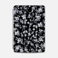 Vintage Flowers in Black iPad Mini 1/2/3 case by Nika Martinez | Casetify