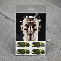 Woodland Camo Eye Black Stickers
