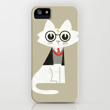Mark - The Harry Potter Cat iPhone Case by Budi Satria Kwan