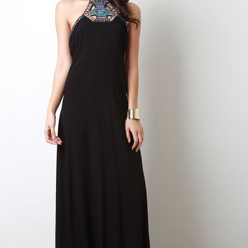 Embroidery Gypsy Maxi Dress