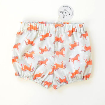 Red Pony Baby Bloomers | Original Fabric