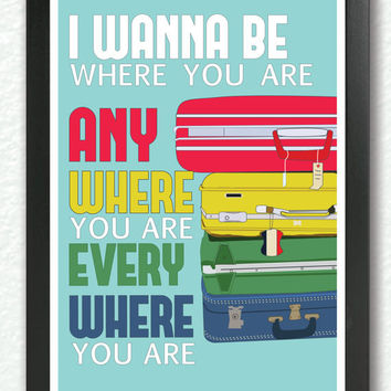 Michael Jackson Inspired,  Missing You Gift, Long Distance Relationship gift, I Wanna Be Where You Are, Pop Art, Retro poster, A3 Poster