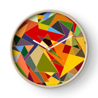 'Impressions' Clock by adiosmillet