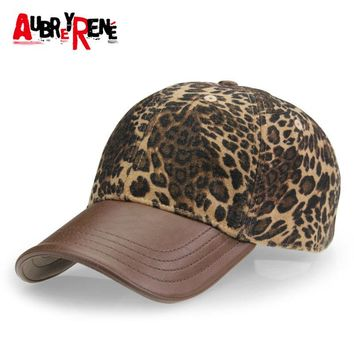 [AUBREYRENE] 2017 New Leopard Design Baseball Cap Women Fashion Winter Hats for Women Golf Polo Hat Z-3892