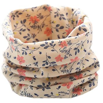 LIHFSI New 2018 Autumn Winter Children 100% Cotton Scarf Baby Scarf Bibs Boys Girls Scarves Lovely Kids Collars Child Ring Scarf
