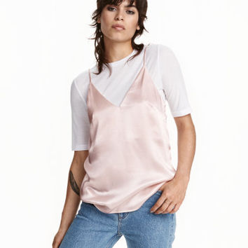 H&M V-neck Satin Camisole Top $39.99