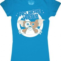 Gremlins No More Water Blue Juniors Tee - Gremlins - | TV Store Online