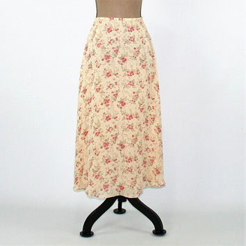 Silk Skirt Floral Chiffon Skirt Women Small Petite Romantic Boho Skirt Spring Skirt Summer Skirt Size 4 Skirt Ralph Lauren Womens Clothing
