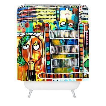Robin Faye Gates Musical Chairs Shower Curtain