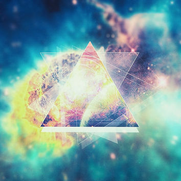 'Awsome collosal deep space triangle art sign' by badbugs