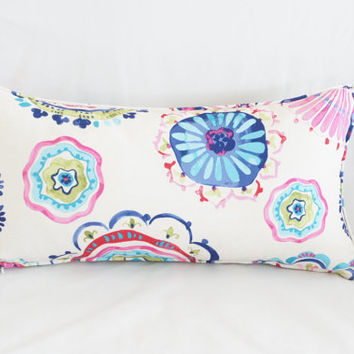 Colorful Decorative Pillow Cover, Floral Cushion Cover, Print Pillow Cover, Handmade Pillow Cover, Home Decor Pillow, Mandala Cushion