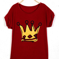 'The Valerie' Crown Printed Tee
