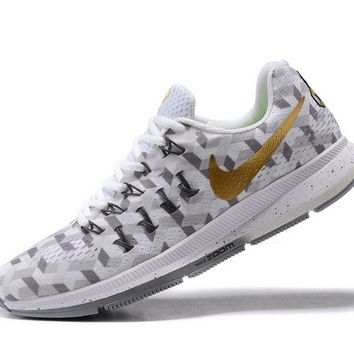 Tagre™ NIKE fashion casual breathable running shoes White gold