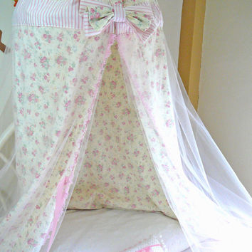 Kids Tent Canopy - Play Tent  - Bed Canopy - Quiet Corner - Reading Nook - Princess Canopy - Shabby Chic Canopy