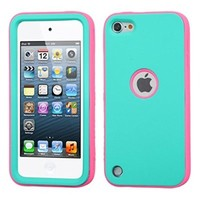MyBat VERGE Hybrid Protector Cover for iPod touch Generation 5 (Teal Green/Pink)