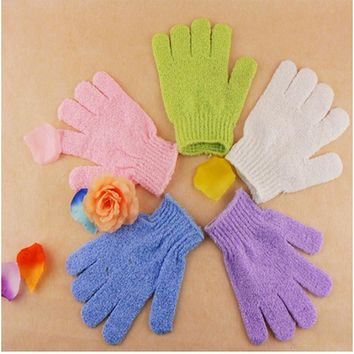 2Pcs Bath Scrub Glove For Bath Exfoliating Mitt Bath Shower Gloves Washing The Body Peeling Cleaning Body Skin Care Massage