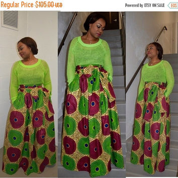 LABOUR DAY SALE New Jezz African print skirt.