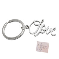 Personalized Keychains: Custom Handwriting Key Ring for Her or for Him, Sterling Silver