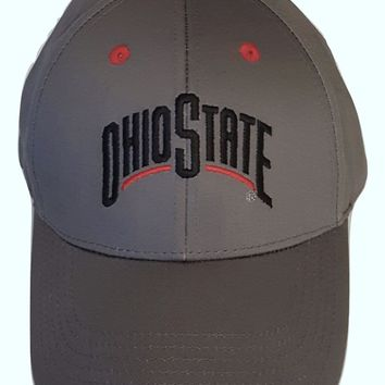 Ohio State Buckeyes Adjustable Embroidered Logo Cap, Choose Hat Color