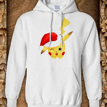 Pokemon Christmas Hoodie color black and white by pahpohhoodie