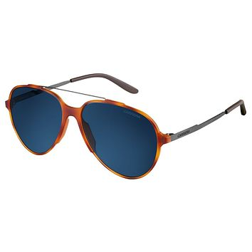 Carrera - 118/S Light Havana Sunglasses, Blue Lenses