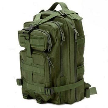 Sport Outdoor Military Rucksacks Tactical Molle Backpack Camping Hiking Trekking Bag-Army Green