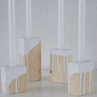 Drip Paint Candle Holder (SET OF 4)