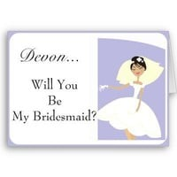 Will You Be My Bridesmaid Card-Personalized from Zazzle.com