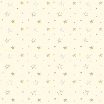 Cute Stars Removable Wallpaper