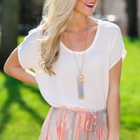 See Me Differently Blouse-Sheer Rose