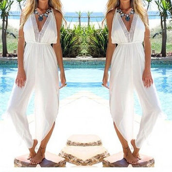 SEXY V LONG JUMPSUIT