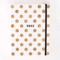 SMALL GOLD DOT PLANNER by KATE SPADE