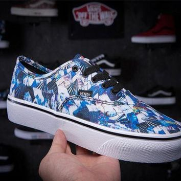 DCCKBWS Trendsetter Vans Floral Print Old Skool Canvas Flat Sneakers Sport Shoes