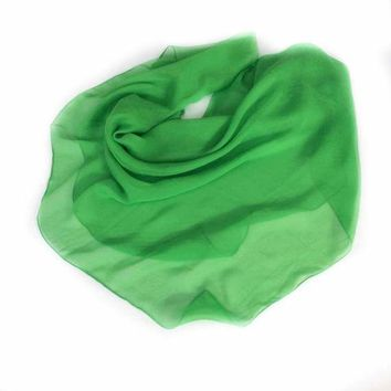 Greenery Silk Scarves Solid color Square Shawl, Mother's Day Gift for Mom, Birthday Gifts for wife, Bridesmaid wedding neckerchief Scarves