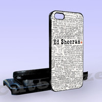 Ed Sheeran - Art - Print on Hard Cover - iPhone 5 Case - iPhone 4/4s Case - Samsung Galaxy S3 case - Samsung Galaxy S4 case