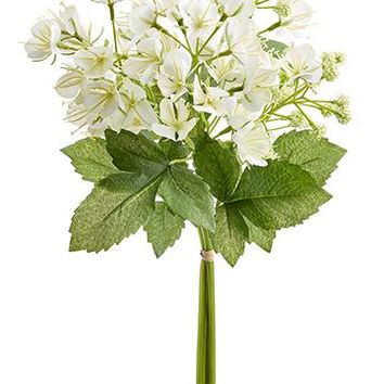 "White Artificial Cleome Spider Flowers Bundle - 18"" Tall"