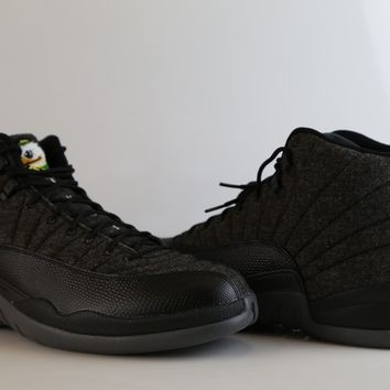 BC QIYIF Nike Air Jordan Retro 12 Wool Oregon Ducks Custom PE Official Tinker Signed size 14 (NO Codes)