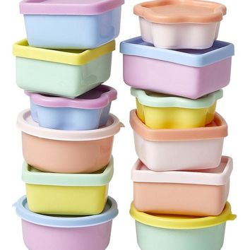 Colorful Pastel Mini Food Containers by Rice