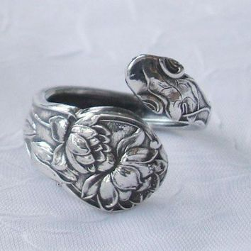 Waterlilies Flower Gorham Vintage Sterling Silver by dmfsparkles