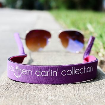 Southern Darlin' Sunglass Strap - Purple