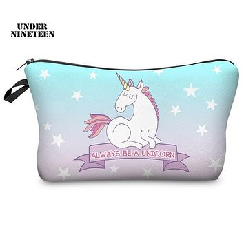 Under Nineteen 2017 New Cartoon Kawaii Travel Make Up Bag Portable Cosmetic Case Neceser Toiletry Organizer Storage Pouch Gifts
