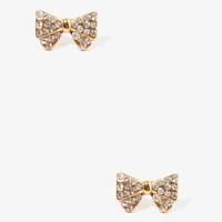 Rhinstoned Bow Earrings
